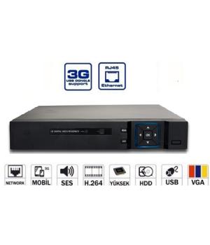 AVENiR AHD 16kanal 960p AV-TR16AHDN 6kanal Ses 2x 6tb AHD Kayıt Cihazı HDMI Hibrit