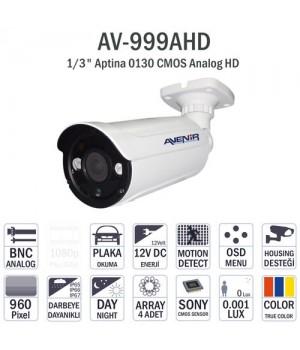 AVENIR AV999AHD Sony Aptina DWDR 50metre OSD Bullet AHD Kamera