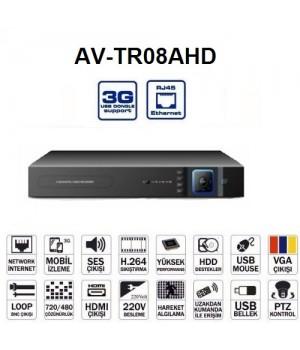 AVENiR AHD 8kanal 720p AV-TR08AHD 1x 6tb AHD Kayıt Cihazı HDMI Hibrit