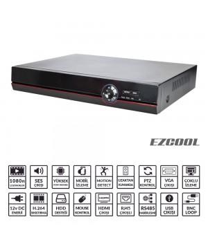 EZCOOL EZ-3216AHD 16KANAL 6SES 2HDD V-OUT AHD DVR