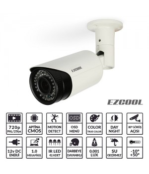 EZCOOL EZ-4210 1MP 2,8-12MM (3MP) 42 LED AHD OSD