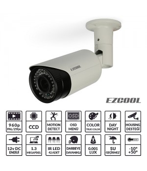EZCOOL EZ-4213 1,3MP 2,8-12MM (3MP) 42 LED AHD OSD