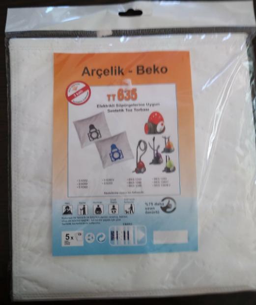 Arçelik Beko TT635 Elektrikli Süpürge Sentetik Toz Torbası